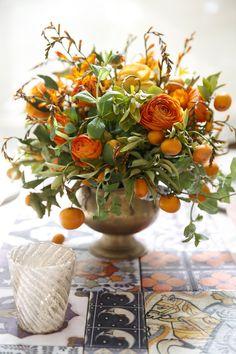 Cinco de Mayo inspiration with Matthew Robbins. Love the arrangement. Fruit Wedding, Wedding Table, Wedding Flowers, Wedding Greenery, Fresh Flowers, Silk Flowers, Beautiful Flowers, Bright Flowers, Floral Flowers