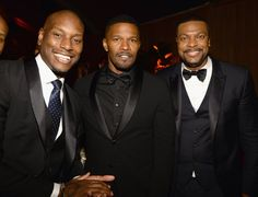 Pin for Later: Without Further Ado, Here Are the 38 Best Golden Globes Pictures  Pictured: Tyrese Gibson, Jamie Foxx, and Chris Tucker