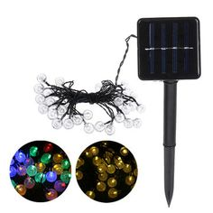 ₹1,005.50%6m 30LED Waterproof Solar Powered Light String Retro Crystal Ball Bulb String Decor LampElectrical Equipment & SuppliesfromTools, Industrial & Scientificon banggood.com