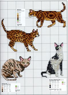 | Needle-Works Butterfly: Cats And Kittens Cross Stitch Patterns