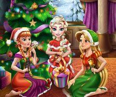 Disney Christmas Party, Christmas Time, Frozen Games, Rapunzel, Baby Games, Princess Zelda, Disney Princess, Animation Film, Disney Characters