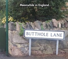 This is in conisborough (my sis lived on the road next to it, people were always posing for pics with their arses hanging out and the sign has been stolen a few times. LOL) JS.
