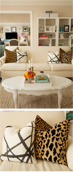 Julia's Living Room // Leopard Velvet and Channels Ebony and Ivory