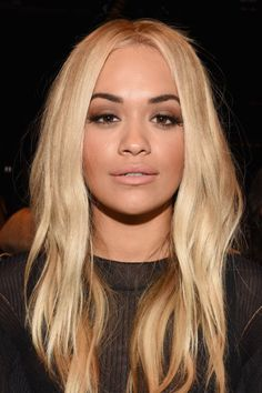 Rita Ora at the Vera Wang Spring 2016 show. http://beautyeditor.ca/2015/09/21/best-beauty-looks-bella-thorne