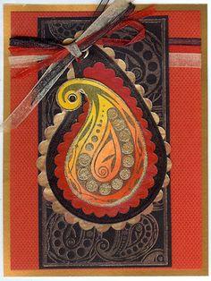 Paisley design on card