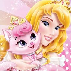 Diamond Painting Aurora & Her Pink Cat Beauty Kit Princesa Disney Aurora, Princess Aurora, Disney Princess Fashion, Disney Princess Pictures, Princess Palace Pets, Manga Anime, Disney Cartoon Characters, Disney Sleeping Beauty, Beauty Kit