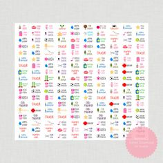 Printable Stickers DIY Planner Decorations di BestWishesCo su Etsy