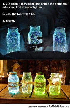 Make A Glow Stick Jar