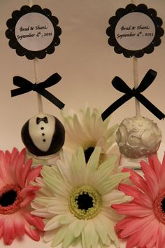 Bride and Groom Cake Pops by DelightfulBites on Etsy, $30.00
