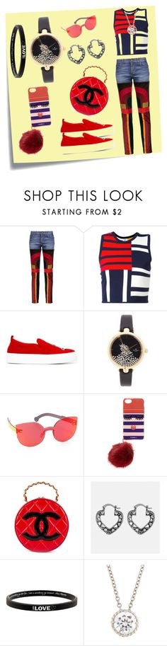 """Slim-Leg Jeans..**"" by yagna ❤ liked on Polyvore featuring Post-It, Tom Ford, Tommy Hilfiger, Joshua's, Kate Spade, RetroSuperFuture, Iphoria, Chanel, Avenue and Peace Love World"