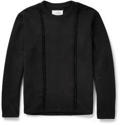 Maison Martin Margiela - Exposed-Seam Cotton-Jersey Sweatshirt MR PORTER