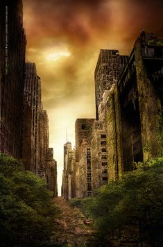 ::: That Day Will Come ::: by donanubis. #postapocalyptic #Art #gosstudio .★ We recommend Gift Shop: http://www.zazzle.com/vintagestylestudio ★