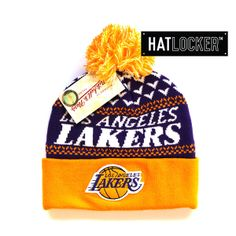 f6f123253c9 LA Lakers Cuff Knit Beanie by Mitchell   Ness