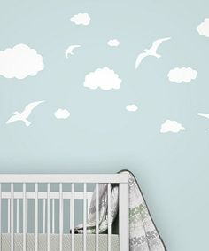 Take a look at this White Bird Cloud Wall Decal Set by looksugar* on #zulily today! $22 !!