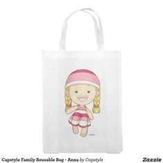 Capstyle Family Reusable Bag - Anna Grocery Bag