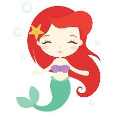 Risultati immagini per little mermaid baby silhouette