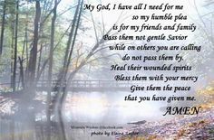Prayer for friends and family