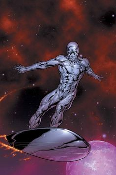 The Silver Surfer - Marvel Comics - Top SuperHeroes Marvel Comics Art, Marvel Comic Books, Comic Book Heroes, Marvel Heroes, Comic Books Art, Comic Art, Marvel Comic Character, Comic Book Characters, Marvel Characters