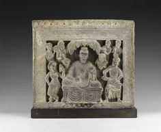 Lot 1435 - Gandharan Temptation of Buddha Panel