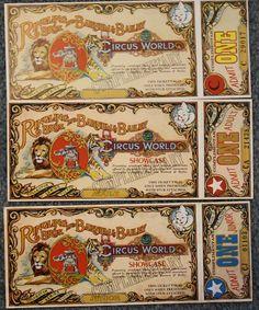 vintage circus ticket - Google Search