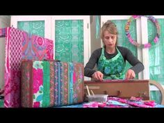 Decoupage suitcase and table  - Sis Boom Decoupage Tutorial with Jennifer Paganelli - YouTube