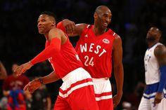 Estrellas del Oeste vencen al Este en la despedida de Kobe Bryant