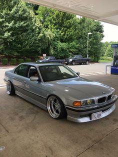 """BMW E38 Silver  Racing dinamics 19"""" Deep dish rims"""