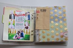 Larger pages sewn to the front of page protectors- keeps the paper from ripping at the holes.