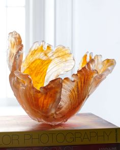 Orange Blaze Glass Bowl - Amanda Brisbane