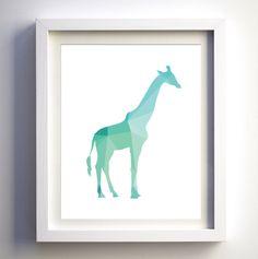 Teal Mint Turqiouse Geometric giraffe print instant download printable children wall art animal nursery decor minimalist modern print aqua by FancyDigitals on Etsy https://www.etsy.com/listing/221242126/teal-mint-turqiouse-geometric-giraffe