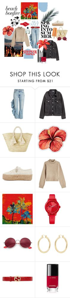 """""""BEACH BONFIRE"""" by ronjahertzman ❤ liked on Polyvore featuring Citizens of Humanity, Giselle, LaMont, Superga, Rejina Pyo, Tommy Hilfiger, Ray-Ban, Isabel Marant, Gucci and Giorgio Armani"""