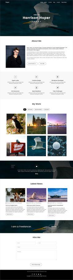 Hoper is clean and modern design responsive #WordPress theme for #freelancer resume and #portfolio showcase website download now > https://themeforest.net/item/hoper-creative-portfolio-wordpress-theme/19834711?ref=Datasata