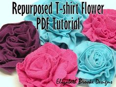 a fun and simple tutorial. T-shirt flowers
