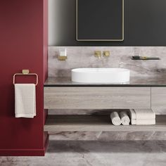 Shift is a collection of customisable bathroom accessories created by Dutch design agency VanBerlo in collaboration with Geesa. Hotel Towels, Towel Rings, Bathroom Accessories, Sink, Projects, Gold, Design, Home Decor, Metal