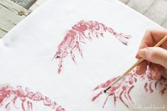So cool! You can print sea life onto any fabric using this easy gyotaku tutorial from www.tableandhearth.com