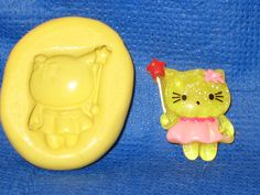 Kitty Cat Fairy Silicone Push Mold Resin Clay Candy #423 Chocolate Fondant  #LobsterTailMolds
