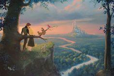 New Disney Fine Art Debuts at the Walt Disney World Resort Deco Disney, Arte Disney, Disney Magic, Film Disney, Disney Love, Disney And Dreamworks, Disney Pixar, Disney Parks, Disney Couples