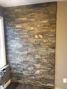 Deliver an attractive and arresting appearance to the walls with this MSI Natural Earth Ledger Panel Natural Slate Wall Tile. Indoor Stone Wall, Faux Stone Walls, Popular Kitchen Colors, Stone Accent Walls, Faux Stone Wall Panels, Dream Bathrooms, Wooden Accent Wall, Stone Wall Panels, Wall Tiles