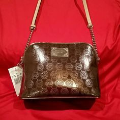 NWT Michael Kors Cindy nickel large dome crossbody New with tag authentic Michael Kors Bags Crossbody Bags