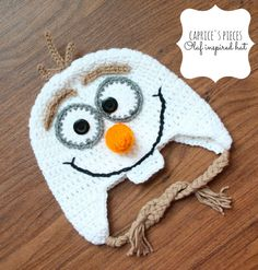 Olaf Inspired Hat Olaf Hat Frozen Hat Frozen by CapricesPieces, $25.00