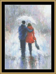 Rain Romance [VW-19] - $16.00 : Mystic Stitch Inc, The fine art of counted cross stitch patterns