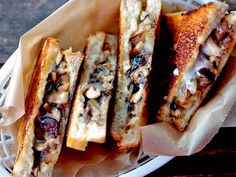 Sandwiched: Grilled Cheese with Sautéed Mushrooms. #recipe