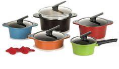 Happycall 10 piece Cookware Pot Set Kitchen Aluminum,ceramic coating Happy call