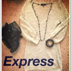 Express Sweaters Black size small. Gray size medium. Light weight $9 EACH Express Sweaters
