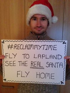 Nathan would fly to meet the real Santa in Lapland! #ReclaimMyTime