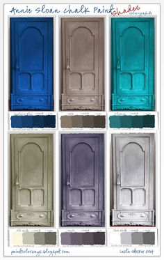 COLORWAYS Armoire shown as if it was painted in 6 different shades of Annie Sloan Chalk Paint.