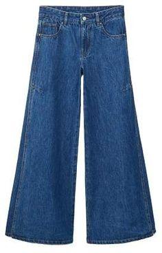 ea6bef7cdea Mango MANGO Flared Elephant jeans Cropped Jeans