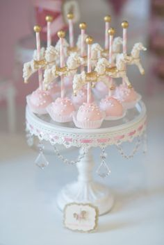 Cake Pops from a Pink Carousel Birthday Party via Kara's Party Ideas! http://KarasPartyIdeas.com (19)