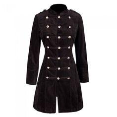 Long Black Velvet Coat