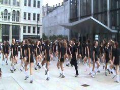 120 Irish dancers flash mob downtown Milwaukee